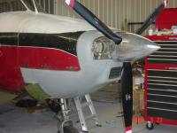 Ready to fly with the IO520BA.  It took three months to complete the big engine conversion working mostly by myself.